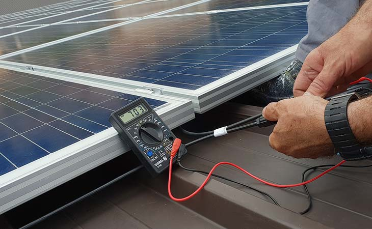 How to test solar panels for faults
