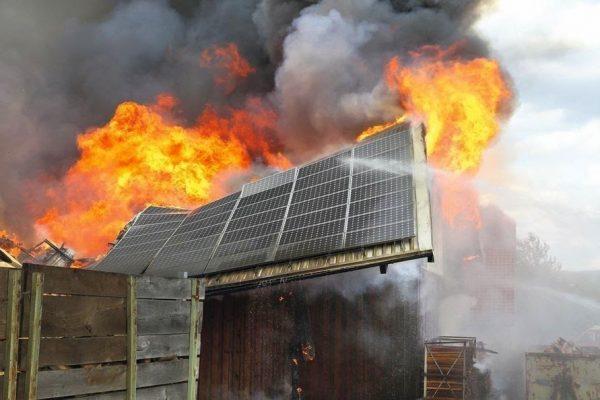 fire solar panel